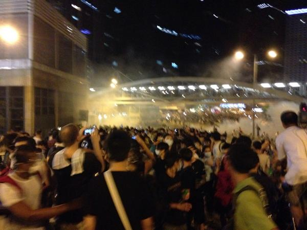 Police just came in with gas masks using more teargas in Tamar hk926
