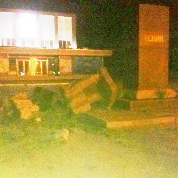 Another Lenin was toppled in Derchachi near Kharkiv