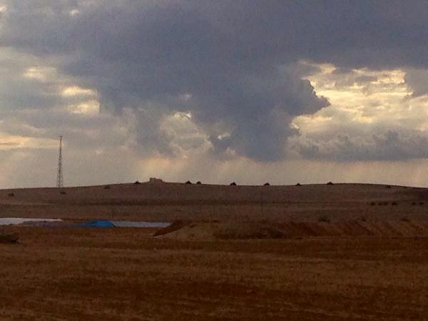 turkey tanks spread out over hill facing kobani turkey syria