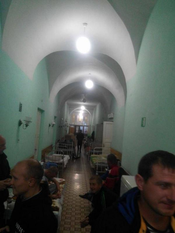 Lutsk, Ukraine: hospitals are overflowing with wounded soldiers who lay in hallways.