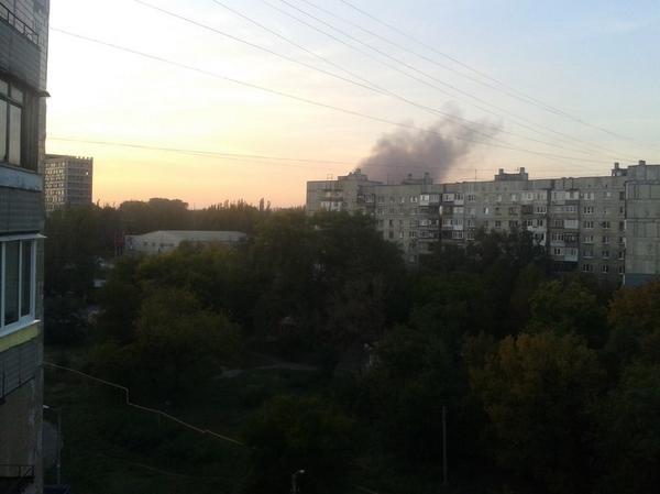Smoke in Donetsk again