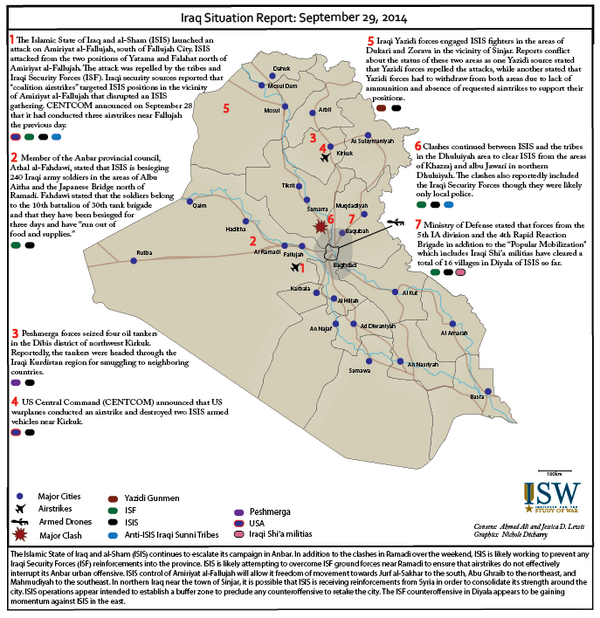ISW just released the Iraq Situation Report for the day