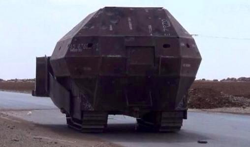 DIY armored vehicle in Syria