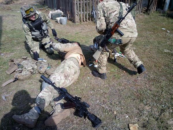 Battle in Nikishyne. 1 wounded