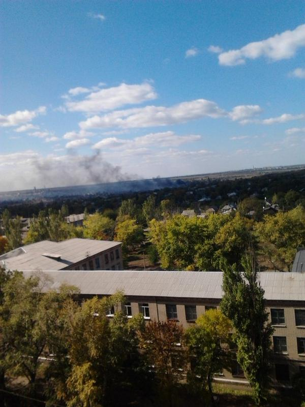 Smoke over Donetsk