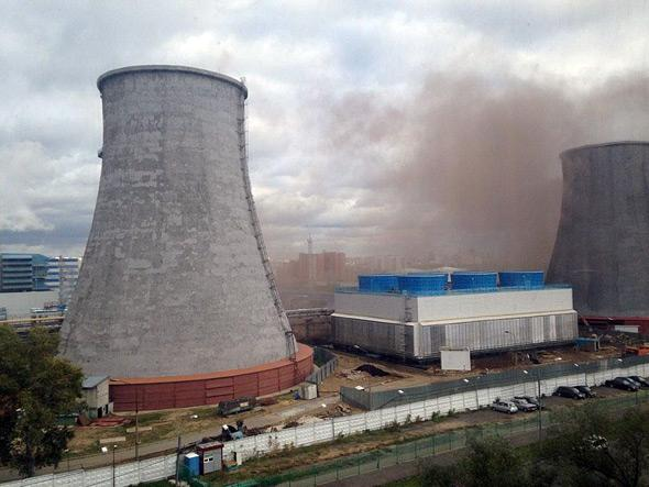 In Moscow at power station in the area of Khoroshevo-Mnevniki heavy explosion