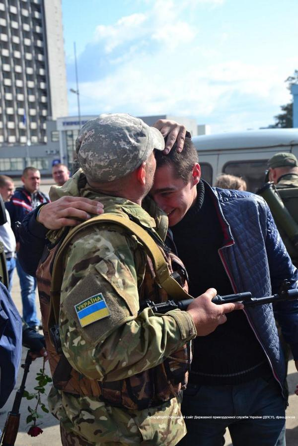 Sumy frontier guards returned from Donbas.