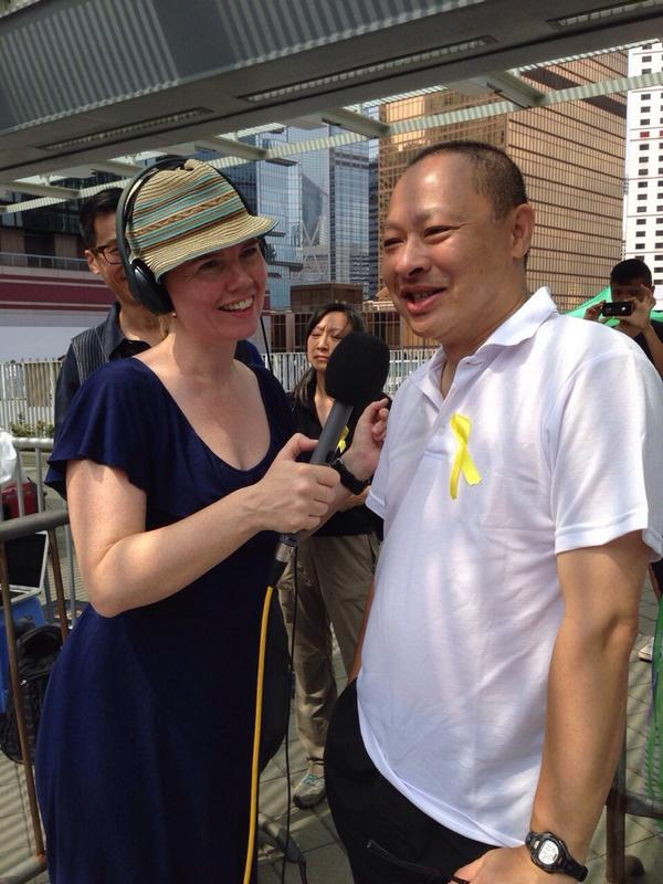 Benny Tai, many consider him the organizer of HongKongProtests he says not anymore, maybe an initiator