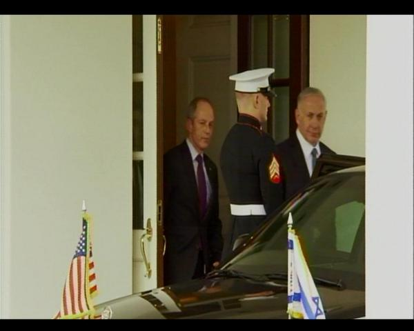 After two hours of talks with Pres Obama, @IsraeliPM Netanyahu departs the WH
