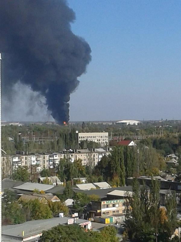 Donetsk airport is on fire again