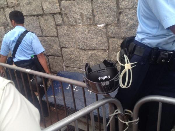 HongKong police bringing riot gear to government HQ @SCMP_News OccupyCentral