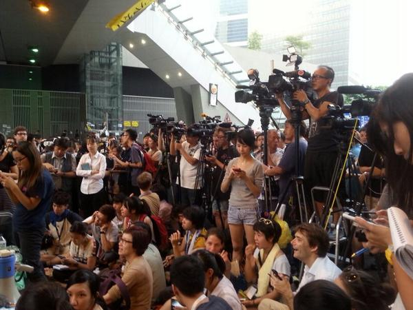 Student and OccupyCentral leaders are about to speak