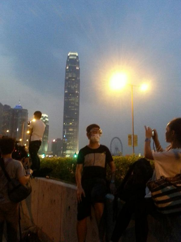 Getting ready outside the chief executive office OccupyCentral OccupyHK
