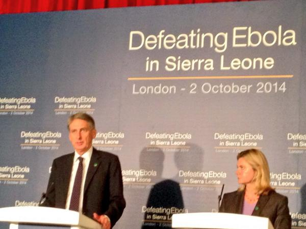 'Significant progress' made getting International support. Some concrete pledges already made- @PHammondMP  EndEbola