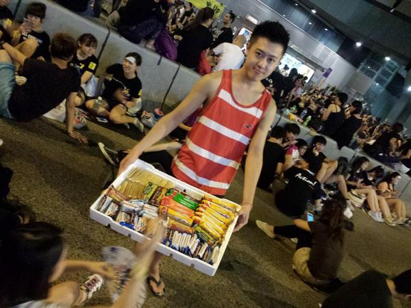 Snacks for protesters at Occupycentral
