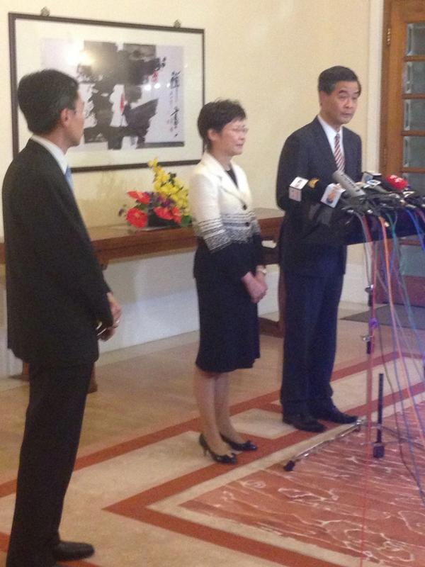 Will not resign, wants to do a good job implementing reform. Not just a personal achievement but good for Hk.