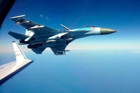 Sweden's radioelectronic security plane have encountered Russia's Su-27 jet fighter... at 27 m distance