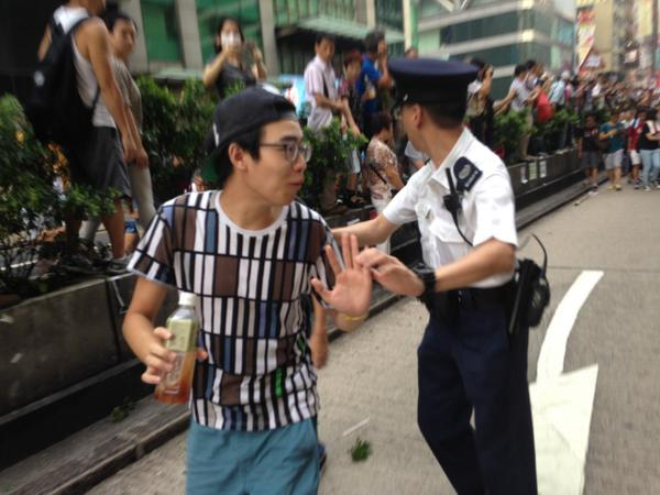 Police keeping new Occupy protesters from joining at Mongkok, saying it's too dangerous. We cannot protect you.