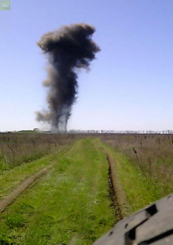 Sappers blew up a bomb In the Zaporozhia region