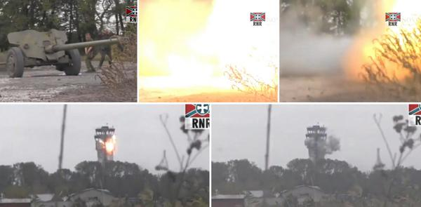 Russians shelling Donets'k airport