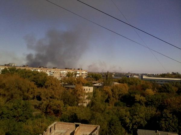 Donetsk. View from the area of the plant Topaz.