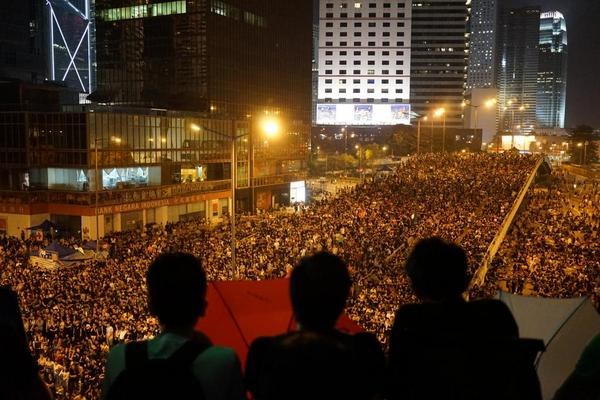 The scene at Admiralty tonight. OccupyCentral