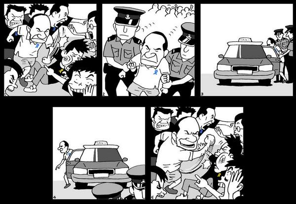Scheme how police interact with HK titushkas