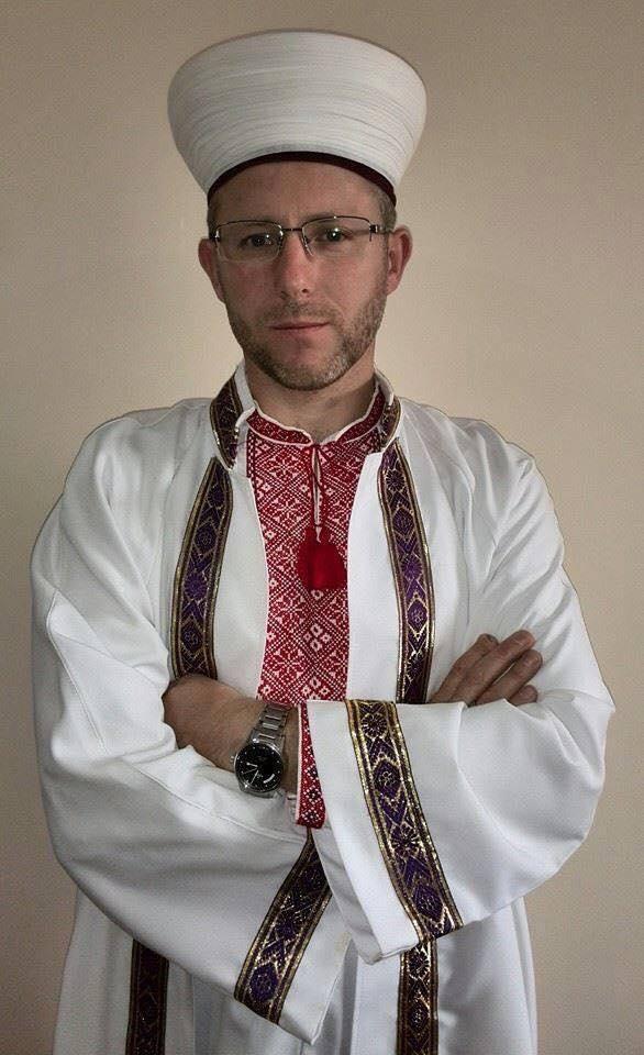 Mufti of Donbass region, Said Ismagilov - in a traditional Ukrainian vyshyvanka