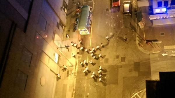 Police build up in in streets surrounding Mong Kok Occupycentral