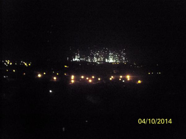 Strange explosion in Donetsk. Some kind of fireworks possible