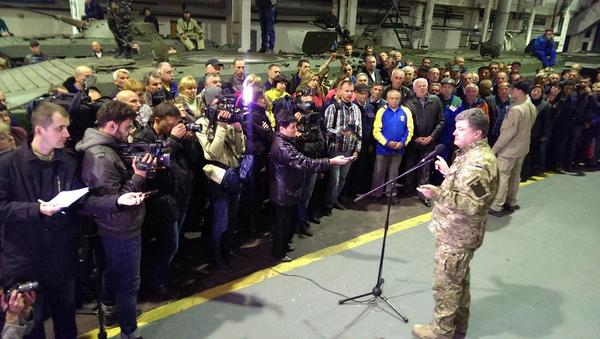 Poroshenko urged workers Zhytomyr armored plant to work in three shifts