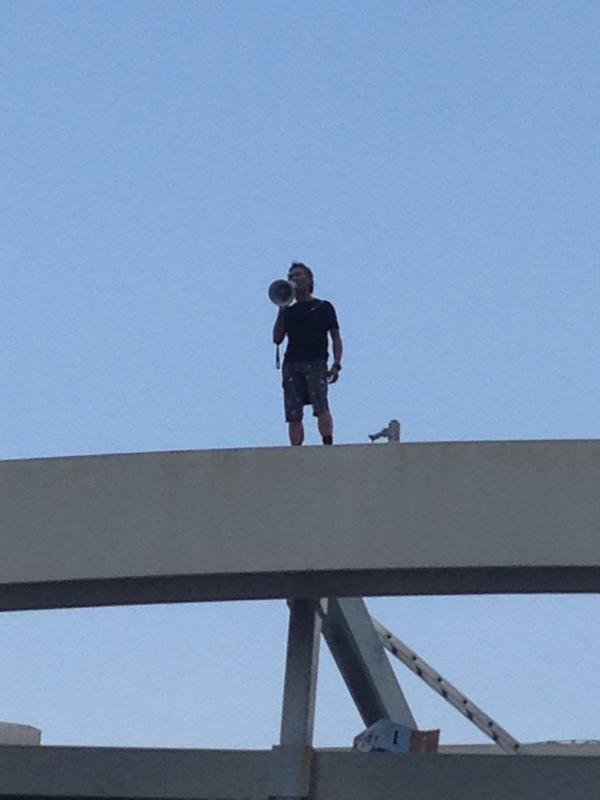 Man on the bridge is the stunt actor