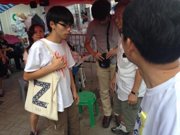 Finally got to speak with @joshuawong1013 and asked What's next? He said, A shower.