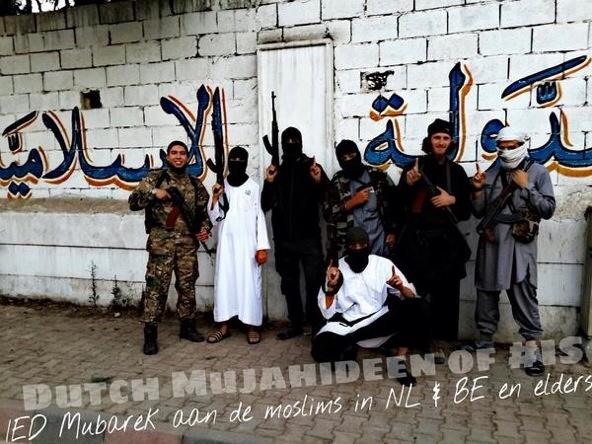 Belgian and Dutch IS fighters in Syria wishing Muslims back home 'eid mubārak Belgium The Netherlands