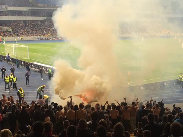 Dynamo - Shakhtar smoke