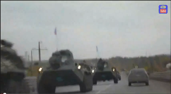 Massive Russia convoy in Ukraine go to Luhansk