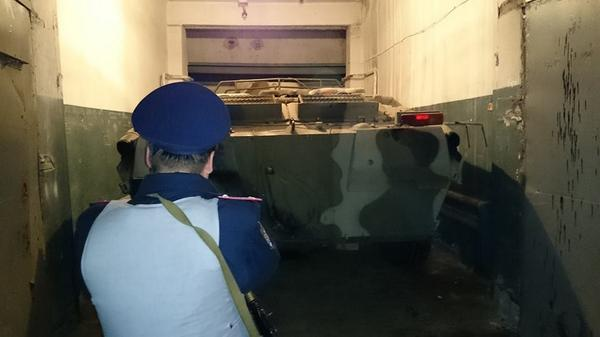 APC BTR 80 was found in the garage on the outskirts of Kharkiv