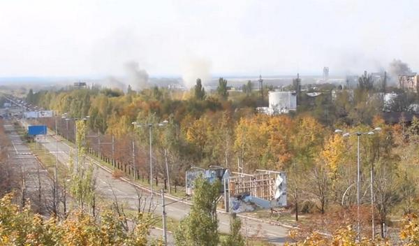 Explosions in Donetsk this morning