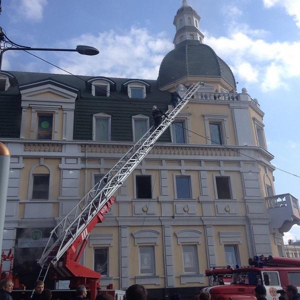 Kharkiv, Rymars'ka street, b.2 evacuation for a cause of the fire