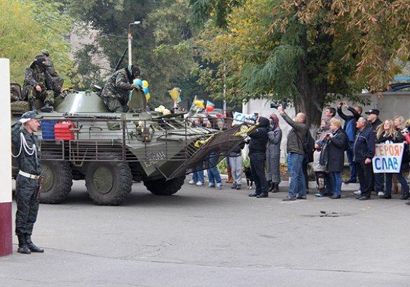 Soldiers return from Donbass to Kyiv
