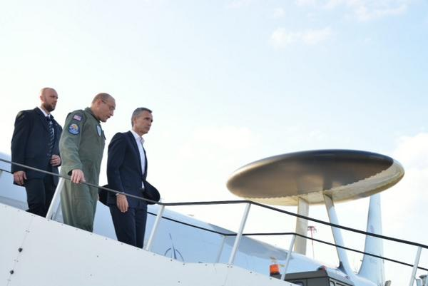 New NATO SECGEN checking out one of our most valued capabilities, the AWACS, during a stopover in Poland.