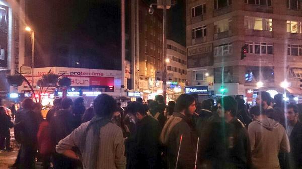 People already started gathering in Kadikoy.