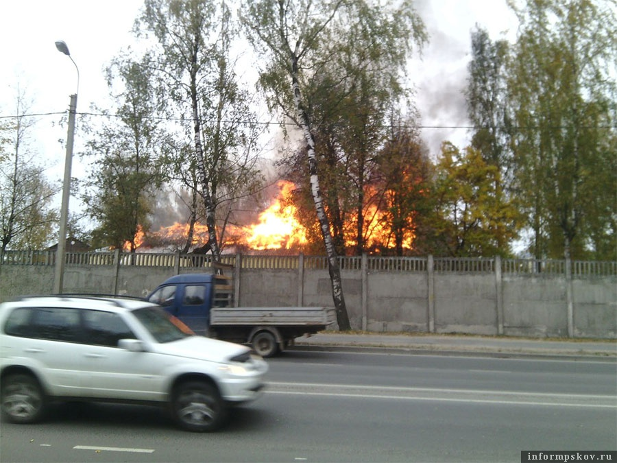 Fire on the territory of 76-th Pskov airborne brigade base
