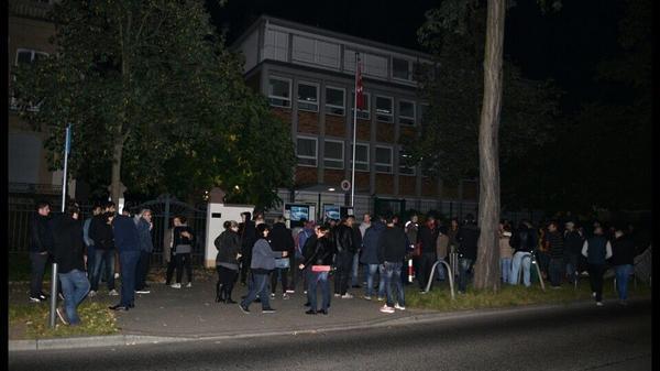 Rally in support of Kobane in Frankfurt