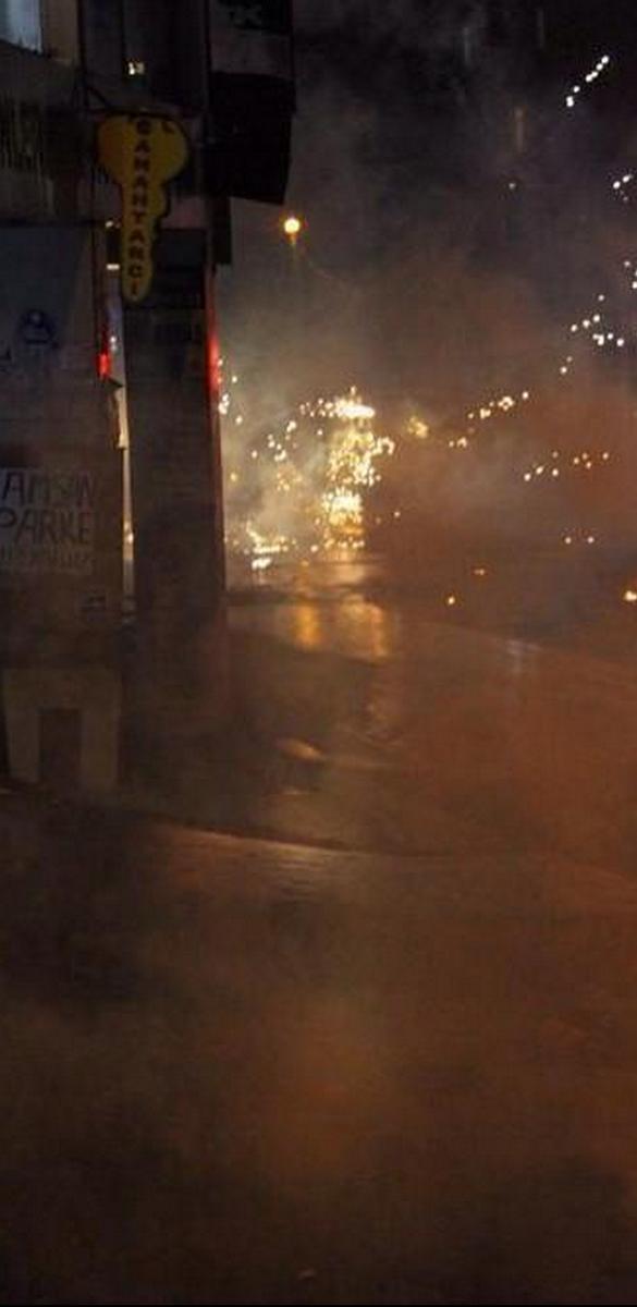 Kurdish youth in Gazi district of Istanbul are clashing with Turkish police. Kobane