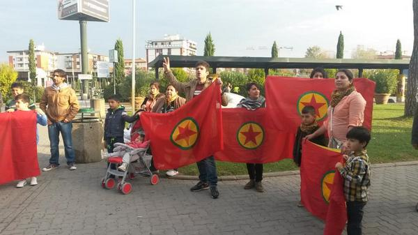 People in support of Kobane are flocking to the airport right now Italy Pisa