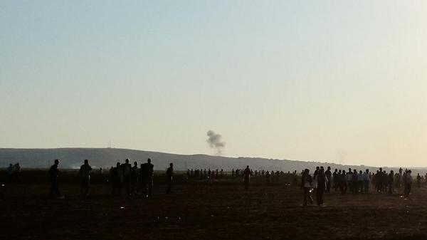 Now one more strike near Kobani