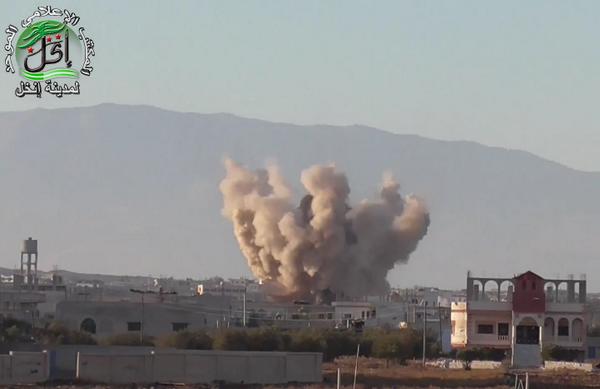 Assad shelling Inkhill after reconnaissance drone flights