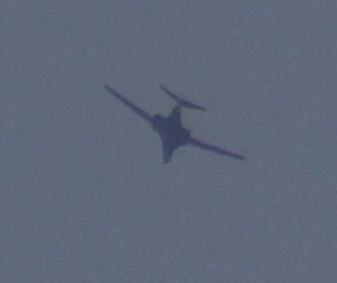 The American B1 bomber we saw operating over Kobani.