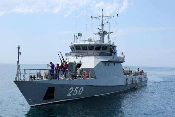 Joint naval exercises Kazakhstan and Russia at Caspian seannWspólne manewry marynarek rosyjskiej i kazachskiej na Morzu Kaspijskim.